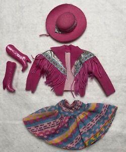 Vintage 1989 Western Fun Barbie Doll Outfit
