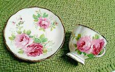 Vintage Tea Cup & Saucer/ American Beauty/Bone China/England