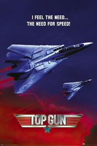 """Top Gun - Movie Poster (I Feel The Need... The Need For Speed) (Size: 24 X 36"""")"""
