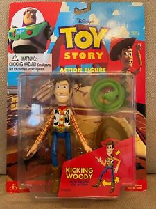 Disney Toy Story Kicking Woody Leg Action Figure Thinkway 1995 New in Package
