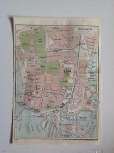 Southampton Street Plan  1924 Vintage Map, Bartholomew, Atlas Original