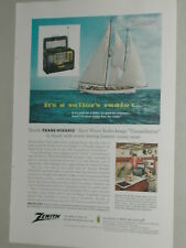 1956 ZENITH Trans-Oceanic Radio advertisement, Zenith T-O shortwave radio
