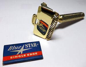 1930's Ever-Ready 1912 Single Edge Safety Razor, Brass - Restored Shave Ready
