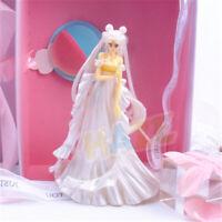 Anime Sailor Moon Tsukino Usagi Wedding Dress Ver. 14.5cm Figure Cake Decoration