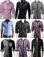 GL FASHIONS New Mens Casual Slim fit Dress Shirts Cotton UK size S/M/L/XL/XXL