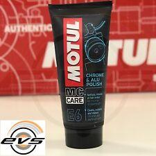 MOTUL E6 CHROME & ALU POLISH Crema Lucida Ripristina Cromature e Alluminio 100ml