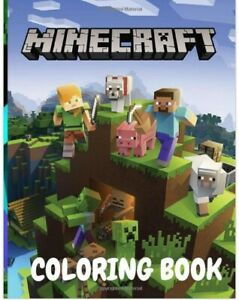 Minecraft Coloring Book Kids Drawing Activity Creative Gift Game Activity Book