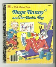Little Golden Book - Bugs Bunny and the Health Hog (Hardcover, 1986) VG