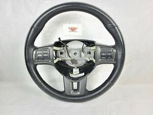 2013-2016 Dodge Dart Black Leather Steering Wheel W/ Control Buttons OEM