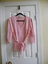 St. John Collection by Marie Gray Soft Pink Belted Sweater Top sz14  *$PECIAL $