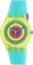 Swatch Women's Originals GJ135 Green Silicone Swiss Quartz Fashion Watch