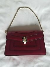 BVLGARI Serpenti Forever Toy Bag Chain Calf Leather in Jazzy Tourmaline 287167