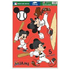 Miami Marlins Mickey Mouse Laptop Multi Use Reusable Decals New Wincraft
