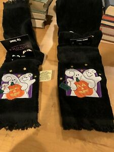 Older New Stock Of Sonoma (Kohl's) Halloween Tip And Hand Towels. (1990's?)