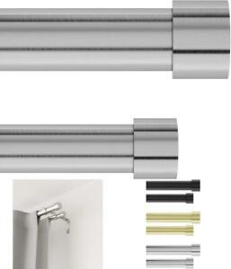 Umbra Cappa Double Curtain Rod, Includes 2 Matching Finials, Brackets  Hardware