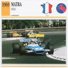 1969 MATRA MS80 Racing Classic Car Photo/Info Maxi Card