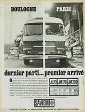 PUBLICITE ADVERTISING 115  1965  les camions poids lourds SAVIEM JL 29 JM 170 20