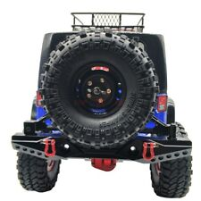 AXIAL SCX10 JEEP Wrangler Aluminum Rear Bumpers Bull Bar W/ Spare Tire Holder