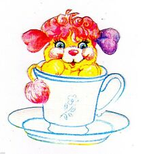 """5.5"""" Popples teacup wall safe sticker border cut out character"""