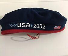 Roots USA 2002 Olympic Team Adjustable Beret Fleece Hat