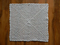 Hand Crochet Small Blanket/Shawl/Throw NEWBORN BABY VARIOUS Girls or Boy Colours