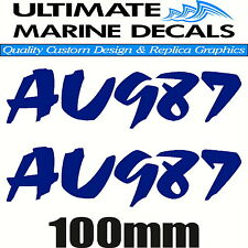 Jet Ski Rego Registration Sticker Modern Decal Set of 2, 290 x 100mm each