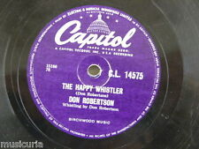 78rpm DON ROBERTSON the happy whistler / you`re free to go