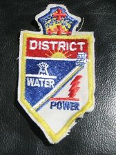 "WATER POWER EMBROIDERED SEW ON PATCH IMPERIAL DISTRICT ADVERTISING 2"" x 3 1/2"""