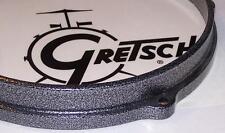 """Gretsch USA Drum Hoop Die Cast Powder Coat Gunmetal 14"""" 10 Hole Snare (Bottom)"""