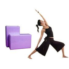 Yoga Block 2PCS Set Yoga Brick Home Health Gym Exercise Sport Yoga Props Purple