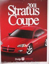 2001 Dodge Stratus Coupe DEALER SALES BROCHURE Chrysler MOPAR Iacocca