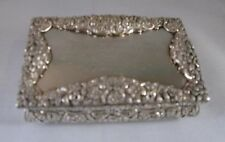 ANTIQUE STERLING SILVER TABLE SNUFF BOX by NATHANIEL MILLS, BIRMINGHAM, 1827