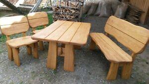 Gartenmöbel Holzmöbel  Eiche Bank Tisch Stuhl