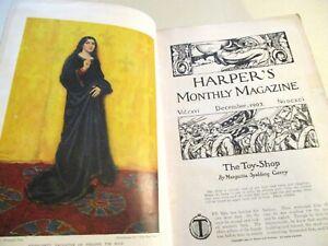 HARPER'S MONTHLY MAGAZINE- December 1907 - May 1908-BEAUTIFUL PICS-VICTORIAN HC