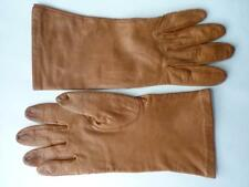 ARIS TAN KID LEATHER SILK LINING GLOVES 8