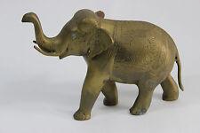 "Heavy Brass 9"" Long Elephant Vaishali International New Delhi Made In India VTG"