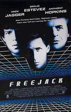 FREEJACK (1992) ORIGINAL MOVIE POSTER  -  ROLLED  -  RARE MYLAR STYLE