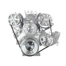 Chevy Sbc 350 Billet Aluminum Complete Serpentine Engine Pulley Set