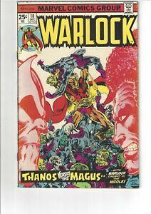The Power of Warlock #10 VF 8.0 Marvel Comics 1975 Thanos