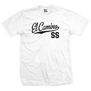 El Camino SS Script Tail Shirt - SS Classic Muscle Race Car - All Size & Colors