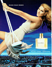 PUBLICITE ADVERTISING 016  2003  Céline Dion  parfum Vivre pour Aimer