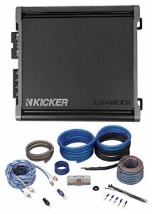 KICKER 46CXA8001 CXA800.1 800 Watt Mono Class D Car Audio Amplifier+Amp Kit