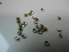 50 STRASS  FOND CONIQUE 3.4 mm de diamètre,cristal