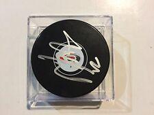 Justin Faulk Signed Carolina Hurricanes Hockey Puck Autographed c