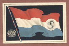 Queen Wilhelmina & Baby  Netherlands c 1910,  Flag , Je Maintiendrai   RK932