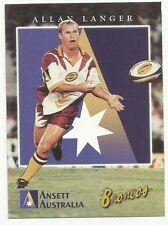 1997 BRISBANE BRONCOS Ansett Australia Card ALLAN LANGER #3