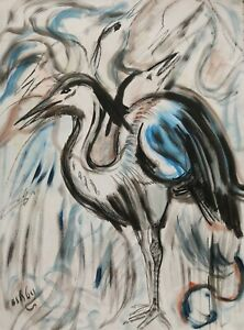 Roger Latimer Ashby - 1942-1998 - Study of a bird  - Picasso  influence
