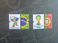 2014 PORTUGAL FIFA WORLD CUP BRAZIL SET 2 MINT STAMPS MNH