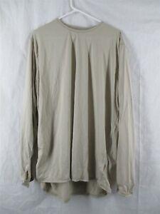 Gen 3 Level 1 X-Large Long Sand Tan Silk Weight Undershirt Top ECWCS Army USGI