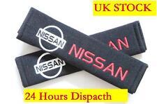 2 Seat Belt Shoulder Cover Pads For NISSAN - skyline 350z almera micra figaro